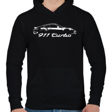 PRINTFASHION Porsche 911 turbo - Férfi kapucnis pulóver - Fekete