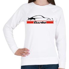 PRINTFASHION Porsche 911 turbo - Női pulóver - Fehér