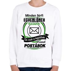 PRINTFASHION Postás - Gyerek pulóver - Fehér