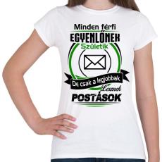 PRINTFASHION Postás - Női póló - Fehér