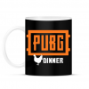 PRINTFASHION PUBG DINNER - Bögre - Fekete