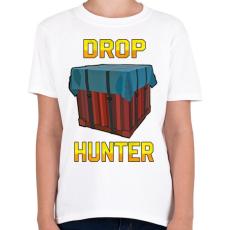 PRINTFASHION PUBG - Drop Hunter - Gyerek póló - Fehér