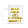 PRINTFASHION PUBG - Keep Calm and have a Chicken Dinner - Bögre - Fehér