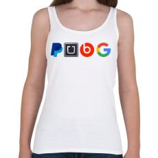 PRINTFASHION PUBG logo paródia - Női atléta - Fehér