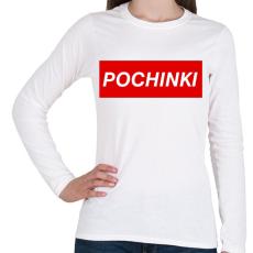 PRINTFASHION PUBG - Pochinki - Női hosszú ujjú póló - Fehér