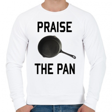 PRINTFASHION PUBG - Praise the Pan - Férfi pulóver - Fehér