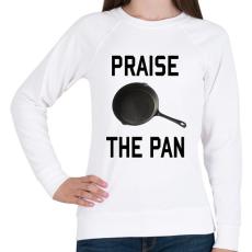 PRINTFASHION PUBG - Praise the Pan - Női pulóver - Fehér