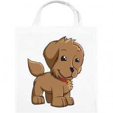 PRINTFASHION Puppy - Vászontáska - Fehér