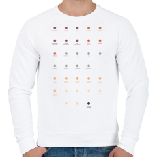 PRINTFASHION Quarks - Férfi pulóver - Fehér