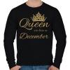 PRINTFASHION Queen  - Férfi pulóver - Fekete