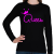 PRINTFASHION Queen - Női hosszú ujjú póló - Fekete
