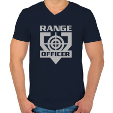 PRINTFASHION Range Officer - Férfi V-nyakú póló - Sötétkék