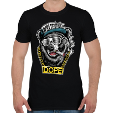 PRINTFASHION Rap medve - Férfi póló - Fekete