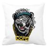 PRINTFASHION Rap medve - Párnahuzat, Díszpárnahuzat - Fehér