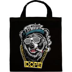 PRINTFASHION Rap medve - Vászontáska - Fekete
