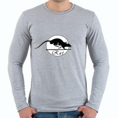PRINTFASHION rat - Férfi hosszú ujjú póló - Sport szürke