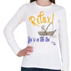 PRINTFASHION RELAX - Női hosszú ujjú póló - Fehér