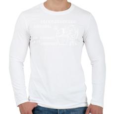 PRINTFASHION RENDSZERGAZDA - Férfi hosszú ujjú póló - Fehér