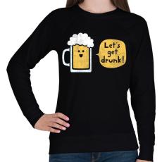 PRINTFASHION Részegedjünk le! - Női pulóver - Fekete
