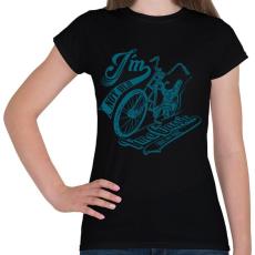 PRINTFASHION Retro bicikli - Női póló - Fekete