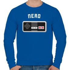 PRINTFASHION Retro gamer - Férfi pulóver - Királykék