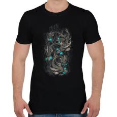 PRINTFASHION Robothalak - Férfi póló - Fekete