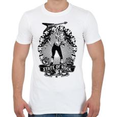 PRINTFASHION Rock - Férfi póló - Fehér