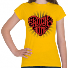 PRINTFASHION Rock on - Női póló - Sárga