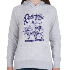 PRINTFASHION Rockabilly baby - Női kapucnis pulóver - Sport szürke