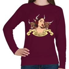 PRINTFASHION Rossz kislány - Női pulóver - Bordó női pulóver, kardigán