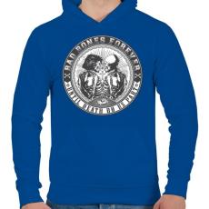 PRINTFASHION Rosszcsontok mindörökké - Férfi kapucnis pulóver - Királykék