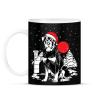 PRINTFASHION Rottweiler Karácsony - Bögre - Fekete