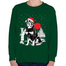 PRINTFASHION Rottweiler Karácsony - Gyerek pulóver - Sötétzöld