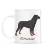 PRINTFASHION Rottweiler kutya - Bögre - Fehér