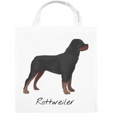 PRINTFASHION Rottweiler kutya - Vászontáska - Fehér