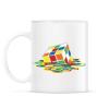 PRINTFASHION Rubik Kocka - Bögre - Fehér