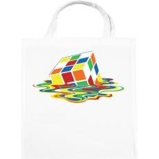 PRINTFASHION Rubik Kocka - Vászontáska - Fehér