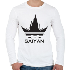 PRINTFASHION Saiyan - Férfi hosszú ujjú póló - Fehér