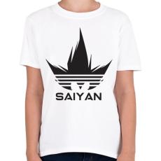 PRINTFASHION Saiyan - Gyerek póló - Fehér