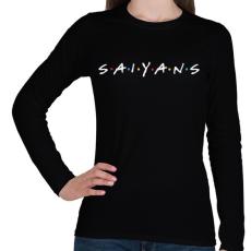 PRINTFASHION SAIYANS - Női hosszú ujjú póló - Fekete