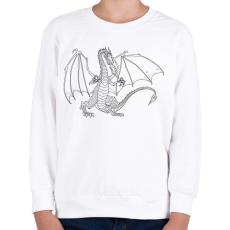 PRINTFASHION Sárkány  - Gyerek pulóver - Fehér