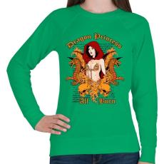 PRINTFASHION Sárkány - Női pulóver - Zöld