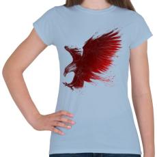 PRINTFASHION Sastámadás - Női póló - Világoskék