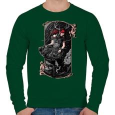 PRINTFASHION Scarlet - Férfi pulóver - Sötétzöld