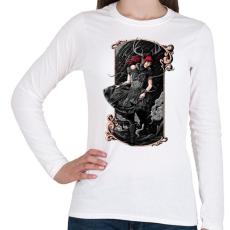 PRINTFASHION Scarlet - Női hosszú ujjú póló - Fehér