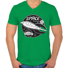 PRINTFASHION Sci-fi jelvény - Férfi V-nyakú póló - Zöld