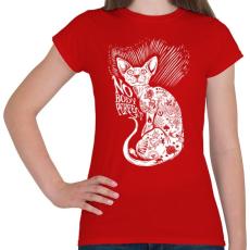 PRINTFASHION Senki nem tökéletes - Női póló - Piros