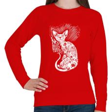 PRINTFASHION Senki nem tökéletes - Női pulóver - Piros