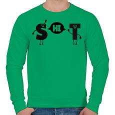 PRINTFASHION SHIT - Férfi pulóver - Zöld