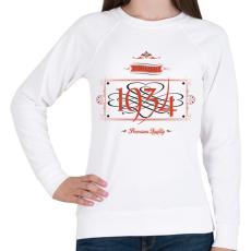 PRINTFASHION since-1934-red-black - Női pulóver - Fehér